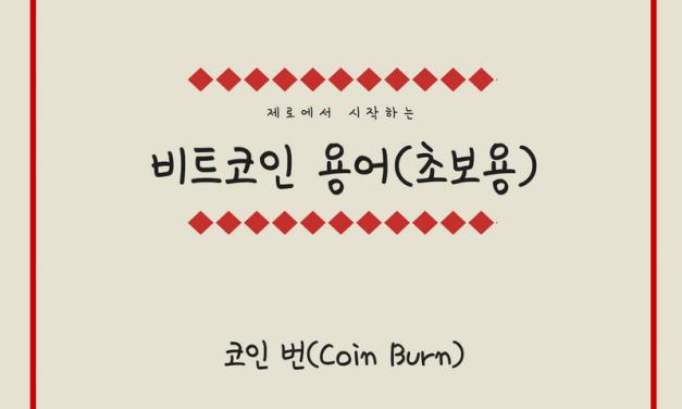 [비트코인 용어(25)] 코인 번(Coin Burn)