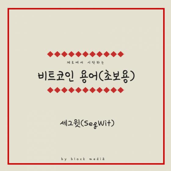 [비트코인 용어(7)] 세그윗(SegWit)