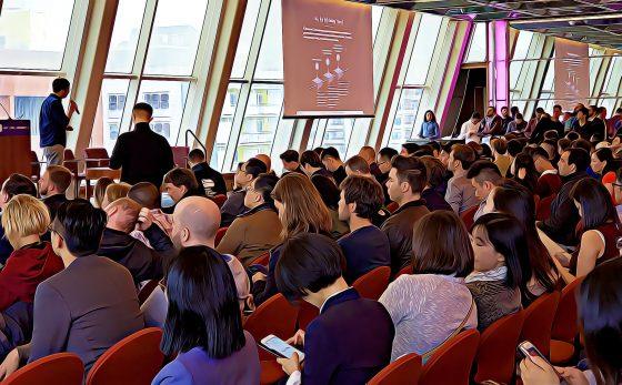 [여기는 뉴욕!!](코인데스크 컨센서스2018) 코인데스크 2018 컨센서스 앞두고 GBIC 밋업 개최…300여명 참석