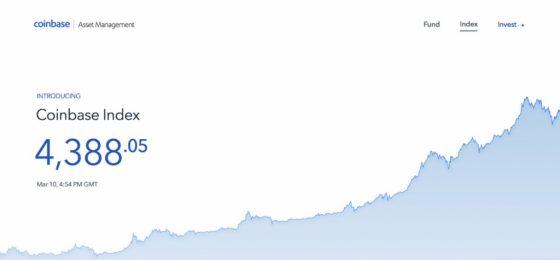美코인베이스, 가상화폐 인덱스펀드 개발