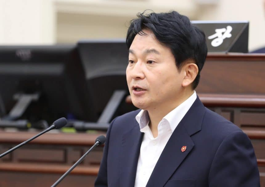 "Governor of Jeju, Won Hee Ryong said, ""We are considering issuing blockchain based local currency """