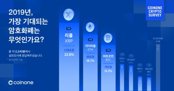 리플, 2019년 가장 기대되는 암호화폐 선정