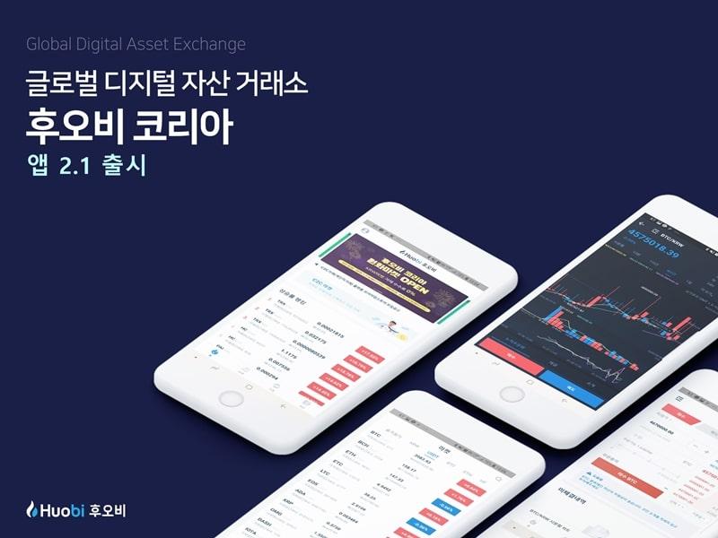 후오비 코리아, 업데이트 된 암호화폐 거래 앱 배포