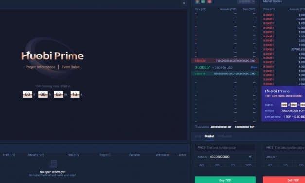 후오비 프라임 첫 프로젝트 'TOP 네트워크' 7초만에 완판