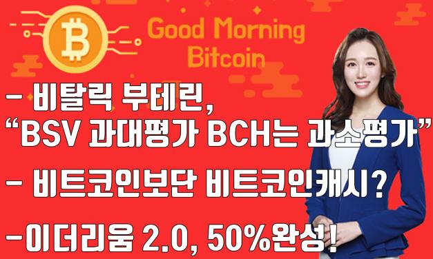 [굿모닝 비트코인]'이더리움 2.0 업그레이드' 50% 완성..BTC 5700달러