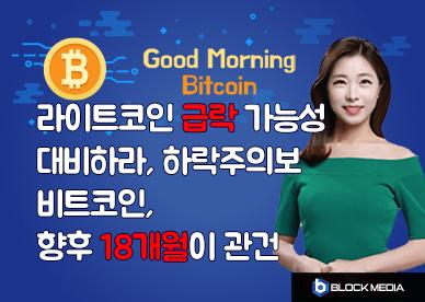 [굿모닝 비트코인] 0613 라이트코인 '급락'에 대비하라..비트코인 향후 18개월이 '관건'