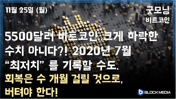 [굿모닝 비트코인]1125 비트코인 내년 7월, 최저치 찍는다?!