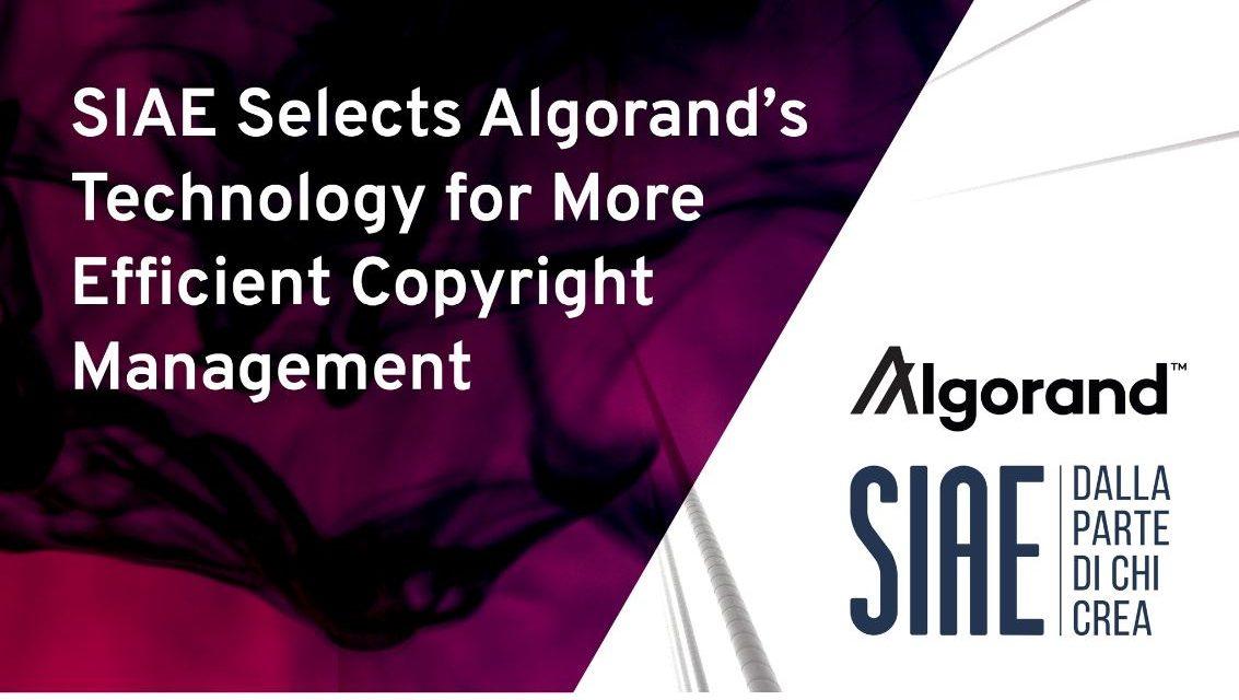 알고랜드, 이탈리아 출판인 협회와 블록체인 기반 저작권 관리 파트너십 체결