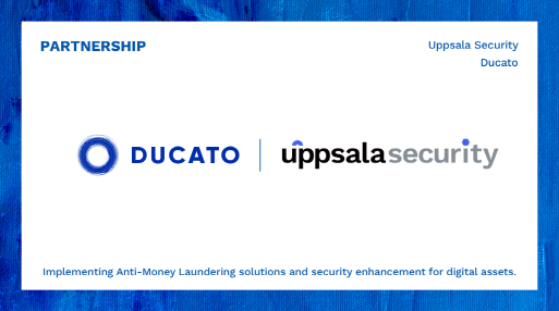 Uppsala Security signs partnership with DeFi company Ducato to build anti-money laundering solution and strengthen service security