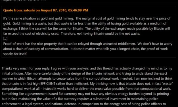 [자료] 전기낭비에 대한 11년전 사토시의 답변과 비판자의 확 바뀐 생각